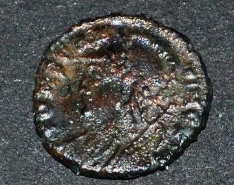 Roman coin 337-361 AD Constantius2 Bronze Authentic