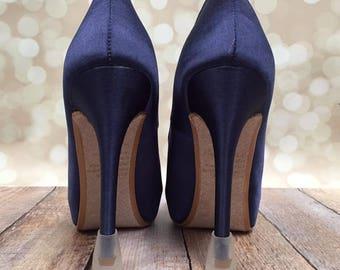Heel Covers, Keep Heels from Sinking, Heelio Dealios, Plastic Heel Covers, Heel Taps, Custom Wedding Shoes