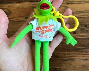 Vintage Muppets From Space KERMIT - key chain toy clip