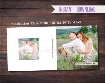 SALE ACI Album Box Templates for 12x12, 10x10, 8x8, 5x5, 6x9 and 9x12, Photoshop Templates, INSTANT Download  (box-aci-2)