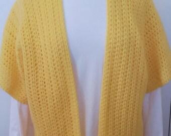 Crochet Vest, Spring Vest, Yellow Vest, Women Vest, Boho Vest, Women Accessory, Gift for Her, No Wool, Boho Chic, Crochet Top, Stylish Vest
