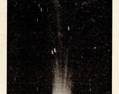 1912 COMET OF DANIEL 427, Original Vintage Space Astronomy Print