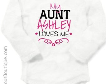 Aunties bestie outfit auntie baby gift aunt baby gift personalized baby clothes aunt gift auntie gift new baby gift baby shower negle Image collections