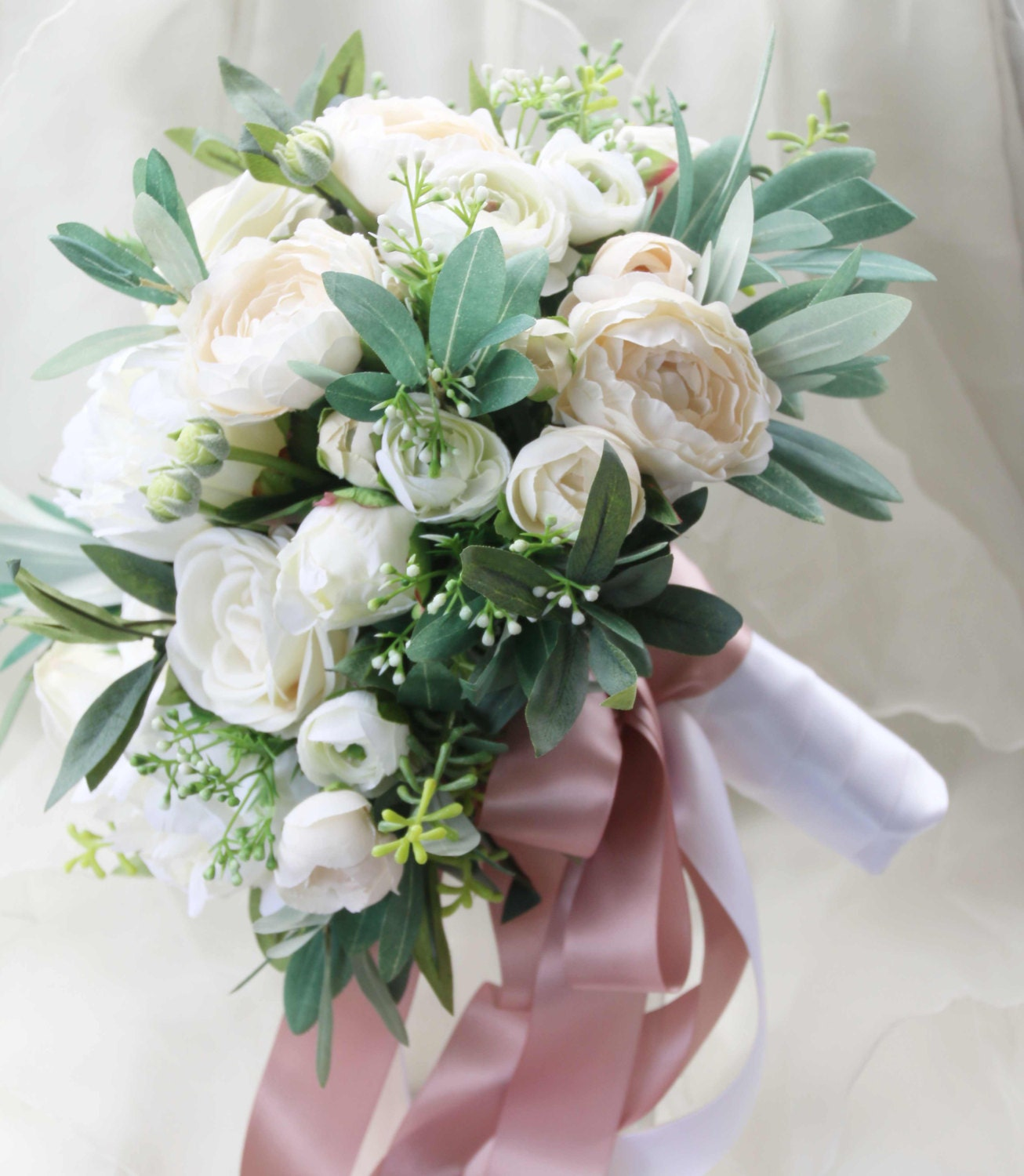 Fake Wedding Bouquets: Silk Wedding Bouquet Boho Bouquet Bridal Bouquet Silk