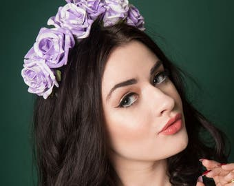 Marbled Rose Headband