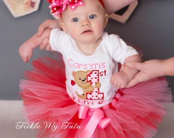 My First Valentine's Day Tutu Outfit-My First Valentine's Day Tutu Set-Baby's First Valentine's Day *Bow NOT Included*
