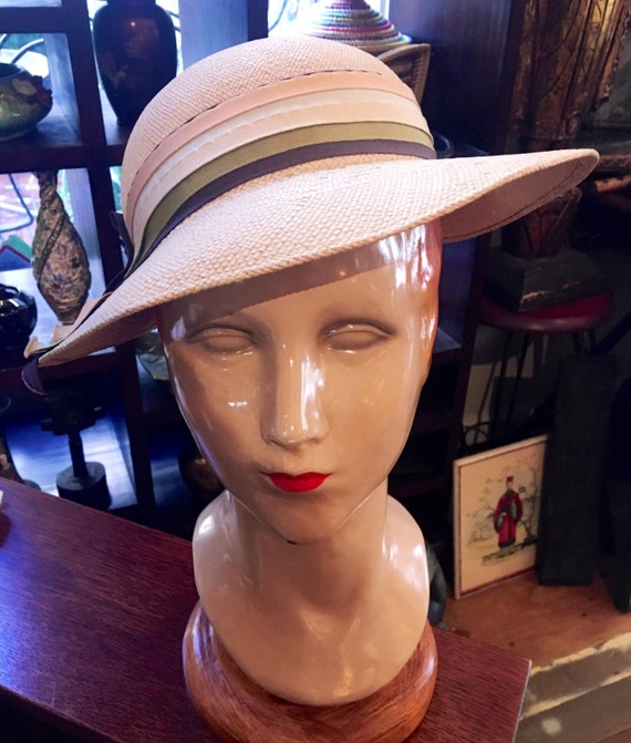 Rare Vintage 1930s Panama Straw Hat by Gage Made in Chicago