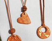 Terra Cotta Essential Oil Diffuser Pendant, Clay Diffuser Necklace, Aromatherapy Necklace