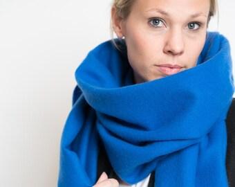 merino scarf - royal blue