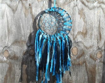 Blue Moon Fabric Bohemian Style Dream Catcher Native Wall Hanging Decor #028