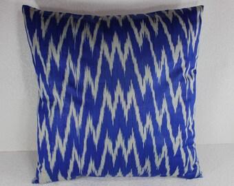 Cotton Ikat Pillow, Ikat Pillow Cover,  C122, Ikat throw pillows, Designer pillows, Decorative pillows, Accent pillows