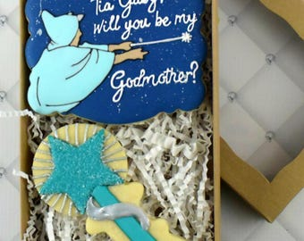 Custom Godmother Sugar Cookies Box Set