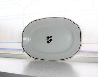 Antique Tea Leaf Ironstone Platter Alfred Meakin