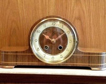 Vintage Clock - H.A.C. Clock - Recycled Mantel Shelf Clock - 1940's Napoleon Clock