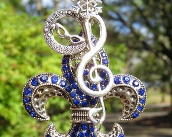 NOLA BLUE NOTE Tree Jewelry Christmas Ornament Fleur de Lis New Orleans