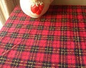 """Large Red and Black Plaid Tablecloth, Soft Woven Rectangular Tablecloth 84"""" x 62"""""""