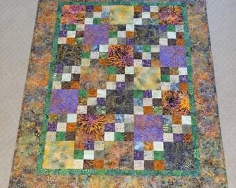 Batik Wall quilt, sofa throw