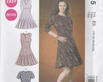 Flirty Godet Dress Pattern McCalls 7015 Sizes 14 - 22 Uncut
