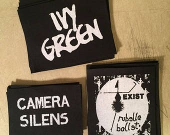Camera Silens, Rubella Ballet, or Ivy Green punk canvas patch