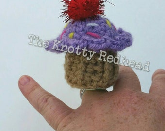 Crochet Amigurumi Cupcake Ring