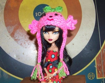 Pink Sweet Candy Hat for Monster High Doll Clothes Clothing Beanie Winter Hat