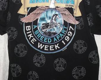 Iron Horse Saloon T Shirt 1997 Bike Week Biker Motorcycle A Breed Apart Ormond Daytona Beach FL Vintage