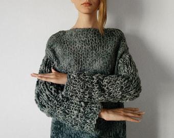 Long knitted dress, merino wool dress, felted dress, vestido de lana, wholesale clothing, long woolen sweater