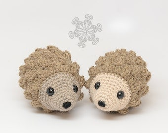 Twin Hedgehogs Stuffed Animals, Natural Toys