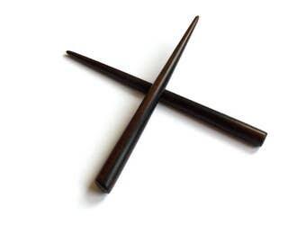 Hair Chopsticks, Black Hair Sticks, Ebony Hair Pins, Wooden Hair Chopsticks, Haarschmuck, Natural Hair Accessories, Handmade, MariyaArts