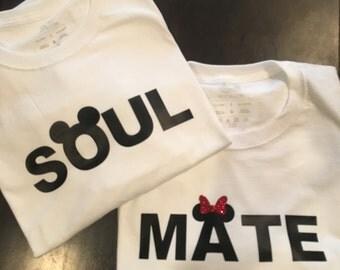 Personalized Disney Inspired Couples Soul Mate Tshirts - Disney Wedding Shirts - Disney Engagement Shirts - Disney Honeymoon Shirts