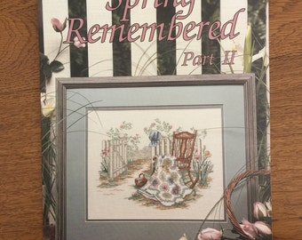 Spring Remembered Part II Cross Stitch Pattern by Paula Vaughan, Book Forty-One