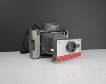 Polaroid 104 Land Camera // Vintage UNTESTED Classic Style Unfolding Instant Film Camera Photographer Gift Idea Photo Shoot Prop Home Decor
