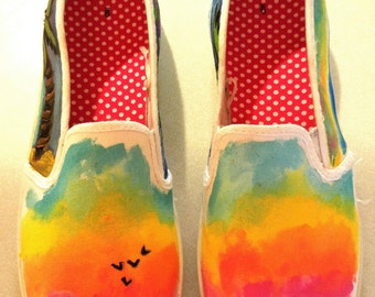 Ocean - Beach Shoes- Original Art - Generic Slip On Shoes - Vans Slip On Shoes