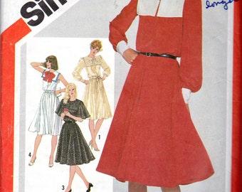 "1980s Women's Dress Pattern - Size 12, Bust 34"" - Simplicity 5291"