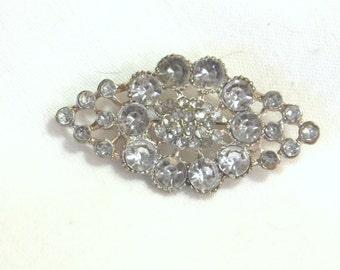 Vintage 1950 Brooch - Mid Century Paste Pin - Rhinestone Brooch - Vintage Jewelry - MidCentury Jewelry - Wedding Brooch - Rhinestone Pin