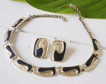 Vintage Jewelry Set, Demi Parure, Vintage Silver Jewelry, Jewelry Sets, Vintage Necklace And Earrings, Retro Jewelry, Vintage Jewelry