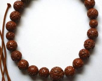 Buddhist mala bodaiju seed prayer beads, vintage Japanese onenju,  juzu beads #4