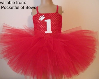 Red and Gold Birthday Tutu Dress,Girls Birthday Dress 1st 2nd 3rd 4th 5th