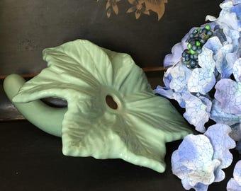 Vintage Pottery Bud Vase Mid Century Ceramics Aqua Cottage Chic