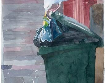 The take away, Watercolour Giclée print