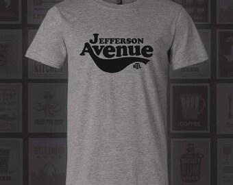 Jefferson Ave T-Shirt - STL City Shirt from Benton Park Prints, Jefferson Avenue, St. Louis, Saint Louis, St Louis Shirt