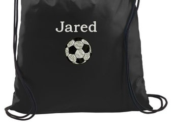 Soccer Bag, Soccer Drawstring Backpack, Drawstring Bags, Cinch Bags, Personalized Gym Bags, Personalized Soccer Bags, Personalized Gifts