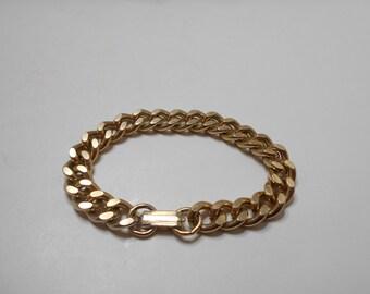 Vintage Gold Tone Chain Link Bracelet (2308)