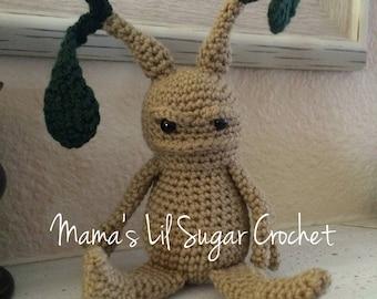 Mandrake, Harry Potter inspired mandrake, mandrake toy, desk decor, home decor, mandrake lovey, harry potter, pottermore