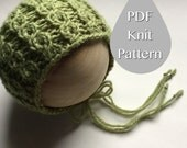 PDF Knit Pattern #0033 The Haiden Knit Bonnet, Newborn, Knit PDF Pattern, Tutorial, Knit Pattern, Intermediate,Video,Instruction,Newborn