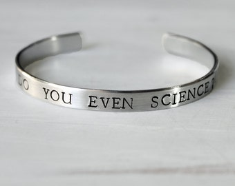 Do You Even Science Bracelet, Do you even science? Scientific Jewelry, Physics Chemisty Biology Botany Earth Science