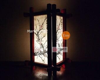 Limited No Screw Design Asian Oriental Japanese Sakura Doji Zen Art Bedside Floor Table Lamp Desk Paper Light Shades Living Gift Home Decor