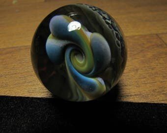 Borosilicate Glass Marble - Pinwheel