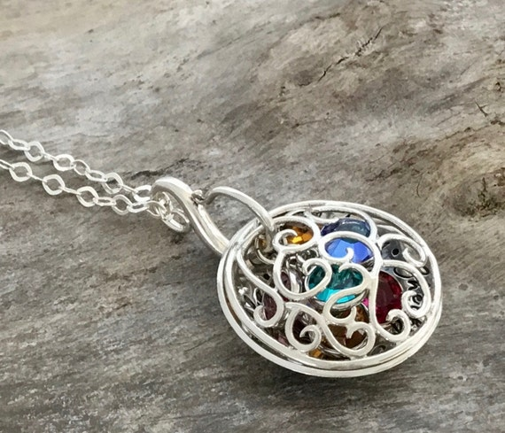 Mother Locket,Grandmother Locket,Mom Necklace,Birthstone Necklace,Birthstone locket,Grandmother Necklace,Mother Necklace,Mom Locket, Names
