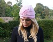 Retro pin-up 50 vintage pink cap/ turban